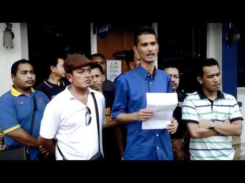 Pemuda Umno Kuala Selangor Bersama NGO Buat Laporan Polis di Kuala Selangor