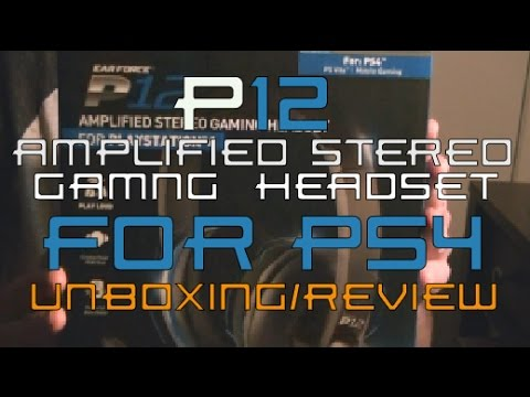 TURTLE BEACH EARFORCE® P12 PLAYSTATION® 4 Gaming Headset Unboxing/Review