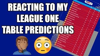 REACTING TO MY LEAGUE ONE TABLE 18/19 PREDICTIONS
