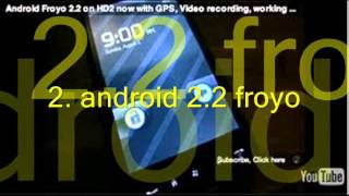 HTC HD2 TOP 3 ROMS