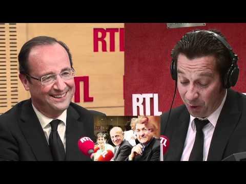 Laurent Gerra a imité François Hollande... devant François Hollande vendredi 4 mai 2012