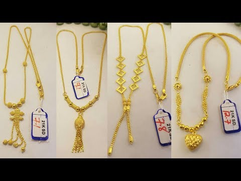 Latest Light weight gold Necklace designs with weight
