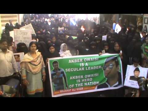 Women's Protest Rally For Released Akbaruddin Owaisi