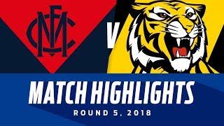 Match Highlights: Melbourne v Richmond   Round 5, 2018   AFL