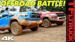 Toyota Tacoma TRD Pro vs Chevy Colorado ZR2 Bison: One Struggles and One Makes It In Texas Mud