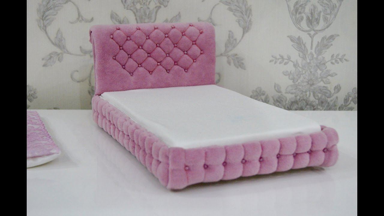 Как сделать кровать для барби своими руками из коробки