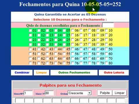 Aprenda como acertar Milhares de Fechamentos para Loteria,  lotofacil, quina, megasena