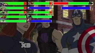 Avengers vs. Thanos vs. Ultron with healthbars