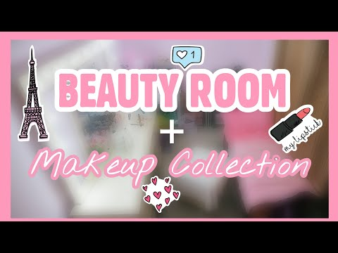 BEAUTY ROOM TOUR + MAKEUP COLLECTION 2017 | Karenliz TV