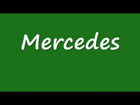how to pronounce mercedes correctly youtube. Black Bedroom Furniture Sets. Home Design Ideas