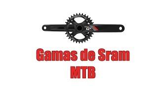 Gamas de Sram en el MTB | Frenos y transmisiones