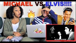 "Epic Rap Battles of History ""Michael Jackson VS Elvis Presley"" Reaction!!!"