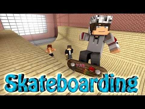 Minecraft | SKATEBOARDING MOD Showcase! (Kickflips, Grinding, Skateboards Tricks)