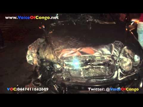 Fally Ipupa vient d'echapper a la mort suite  un accident dans sa Bentley