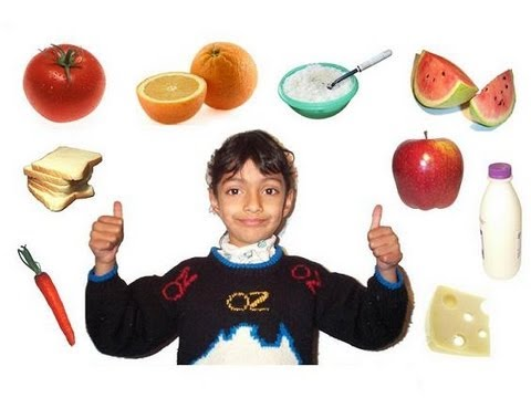 Lesson 15: Learn the Healthy and Unhealthy Foods for Kids! (with voice)