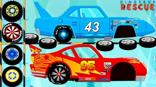 Dinosaur Cartoons : Dinoco Cars, McQueen Cars, Monster Truck - Car Driving & Truck Driver for Kids