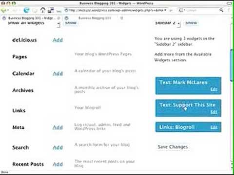 0 WordPress Tutorial   Use a Text Widget to Customize Sidebar