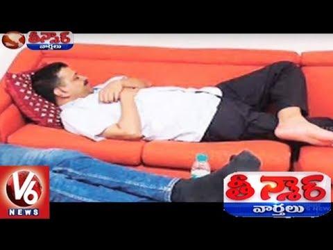 Arvind Kejriwal's Protest Sleepover At Lt Governor Office Against BJP Govt | Teenmaar News