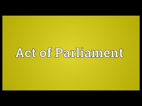 Header of Act of Parliament