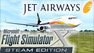 FSX-Jet Airways, Dhaka to Delhi (Full Flight)-Boeing 737-842