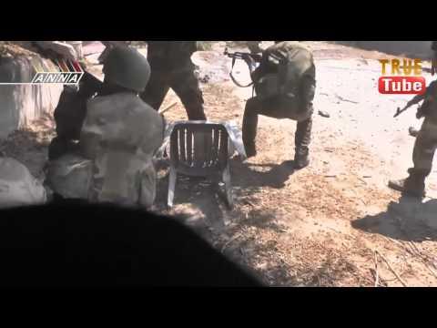 مشاهد حية لمعارك الجيش العربي السوري في القابون — الجزء الثالث — مترجم للعربية