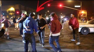 MASSIVE 10 Man Fight Breaks Out At Car Meet..