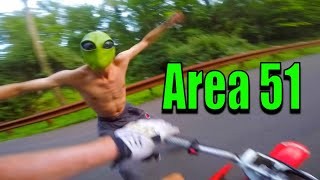 ALIEN STOLE MY DIRT BIKE (AREA 51)