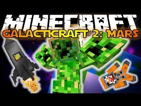 Minecraft: Galacticraft 2: Mars - 3 Headed Creeper Boss! (Galacticraft Mod Showcase)