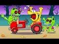 СТРАШНЫЙ ЗОМБИ КОТ погоня за СОБАКОЙ Игровой Мультик для Детей Zombie cats