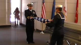 Flag Folding/ 21 Gun Salute & Taps for Petty Officer First Class Johnny Spicer