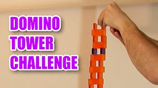 WORLD RECORD - Domino Tower Challenge