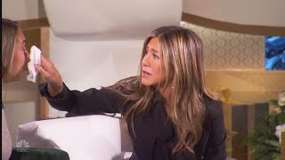 Jennifer Aniston TEARS UP During Ellen's Christmas Giveaway Special