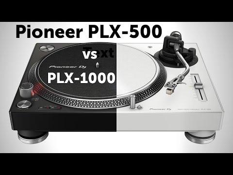 Сравнение проигрывателей винила Pioneer PLX-500 и PLX-1000