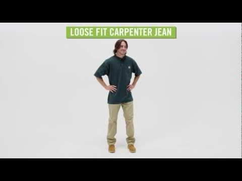 Video: Men's Loose Fit Canvas Carpenter Jean