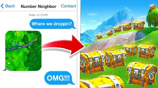 My NUMBER NEIGHBOR Chose where to drop in Fortnite!