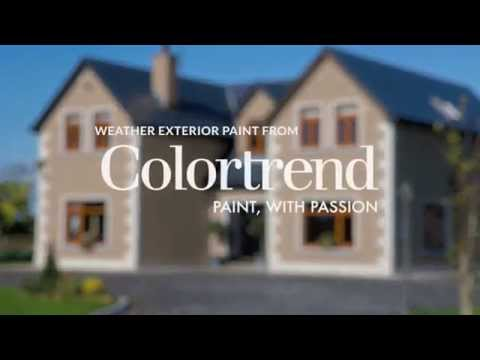 colortrend weather exterior masonry paint youtube