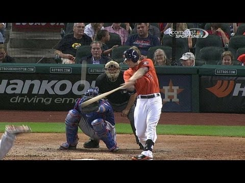 TEX@HOU: Barnes takes Garza deep to pad Astros' lead