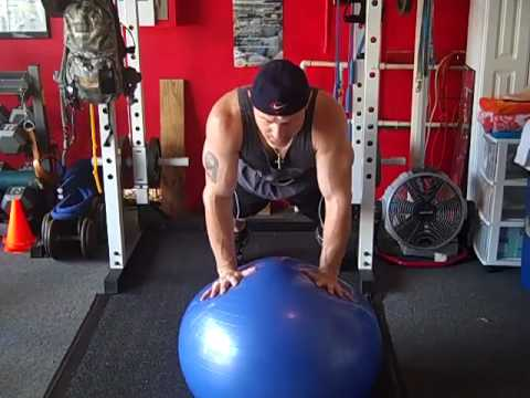 Physioball Push-Ups