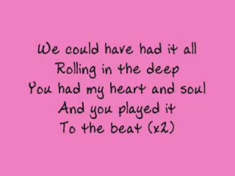 Adele - Rolling in the Deep - lyrics Music Videos