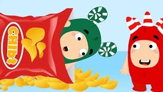 Oddbods playing hide and seek in chips wafers - Oddbod funny pranks full compilation