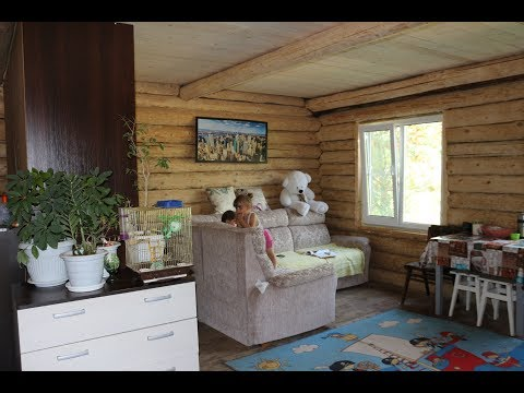 Сруб отшлифован, мебель перевезена. Обзор дома / Home overview