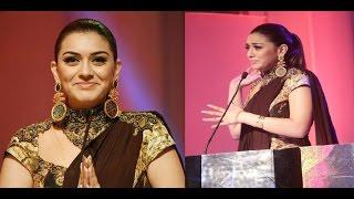 Hansika Tries to Speak Tamil at Puli Audio Launch