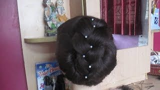 Latest Juda Style New Hairstyle#Twist Braid Updo for Long Hair#Wedding Bridal Hair Style Tutorial