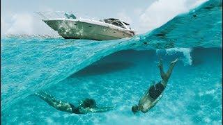 Girlfriend does backflips off the boat   (Ibiza 2017)