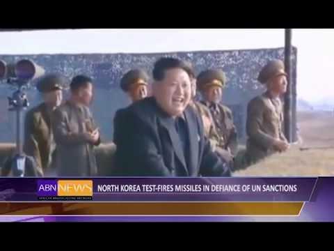 North Korea test fires missiles in defiance of US sanctions