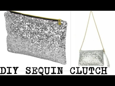2Minutes DIY: Designer SEQUINS Clutch/Purse/Reuse Of Waste Leftover Clothes(HINDI)