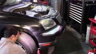 2006 Chrysler Pacifica 3 5L radiator, cooling fans test and pressure test
