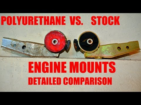 Polyurethane vs. stock engine mounts - detailed comparison