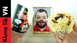 Holy eat super spicy Korean noodles
