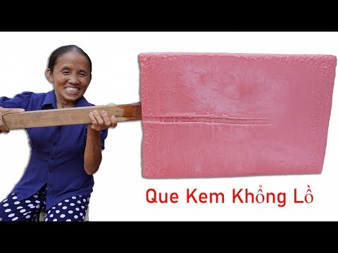 BГ TГn Vlog - LГm Que Kem DЖa Hбu SiГu To Khбng Lб  Giant watermelon ice cream sticks